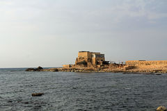 Restaurant by the Harbor at Caesarea Maritima National Park Stock Photos