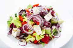 Restaurant healthy food - greek salad Royalty Free Stock Photo
