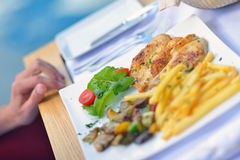 Restaurant healthy meal Stock Photography
