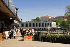 Restaurant in heet Tallinn stock afbeeldingen