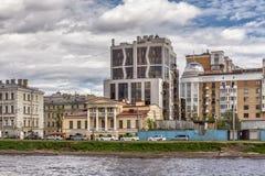 Restaurant` Herenhuis Glukhovsky ` in het oude herenhuis Glukhovsky in St. Petersburg Stock Foto's