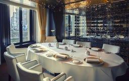 Restaurant in het hotel van Amsterdam (Le Europa) Stock Afbeeldingen