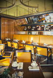 Restaurant in het hotel van Amsterdam (Le Europa) Royalty-vrije Stock Fotografie