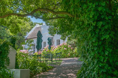 Restaurant in a historic building. CAPE TOWN, SOUTH AFRICA - DECEMBER 15, 2014:  Restaurant in a historic building on the Zevenwacht Wine Estate near Bellville Royalty Free Stock Photos