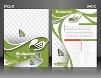 Restaurant & Hotel Flyer Stock Image