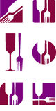 Restaurant icon. Vector image of a symbol for the restaurant business Stock Image