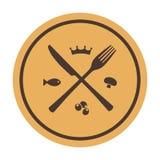 Restaurant icon. Crossed fork and knife.  vector illustration