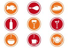 Restaurant  Icon Set. Vector illustration Royalty Free Stock Photo
