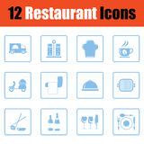 Restaurant icon set Stock Image