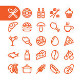 Restaurant Icon set Stock Photos
