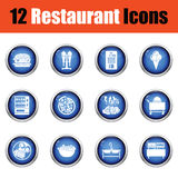 Restaurant icon set. Stock Images