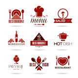 Restaurant icon set Stock Photo