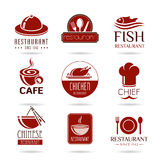 Restaurant icon set Royalty Free Stock Photos