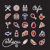 Restaurant Icon set Royalty Free Stock Photos
