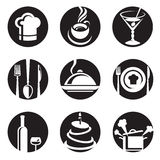 Restaurant icon set Stock Images