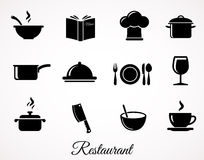 The restaurant icon set. Stock Photos