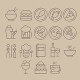 Restaurant Icon Set royalty free illustration