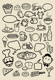 Restaurant icon sketches Stock Photo
