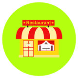 Restaurant icon in trendy flat style isolated on grey background. Building symbol for your design, logo, UI. Vector illustration, Stock Photography