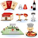 Restaurant icons Stock Image