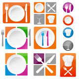 Restaurant icons Royalty Free Stock Photography