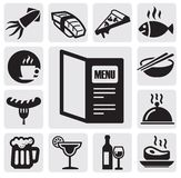 Restaurant icons Royalty Free Stock Images