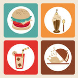 Restaurant icons Stock Photo