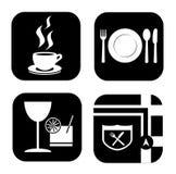 Restaurant Icons Royalty Free Stock Photos