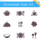 Restaurant icons collection Royalty Free Stock Photography
