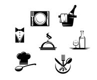 Restaurant icons and menu elements Royalty Free Stock Photo