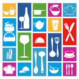 Restaurant icons Royalty Free Stock Photos