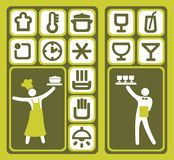 Restaurant icons set Royalty Free Stock Photo