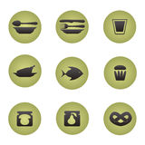 Restaurant icons set. Stock Photos