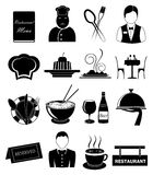 Restaurant icons set Stock Photo