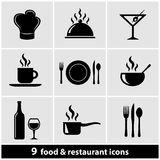 Restaurant Icons Set Royalty Free Stock Photos
