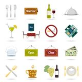 Restaurant icons set Stock Image