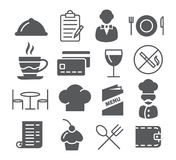 Restaurant Icons Set Stock Image