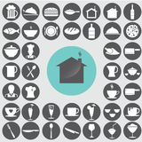 Restaurant icons set. Stock Photography