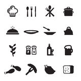 Restaurant icons set Stock Photography