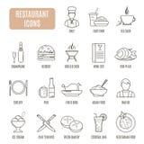 Restaurant  icons. Set of vector pictogram Stock Photo