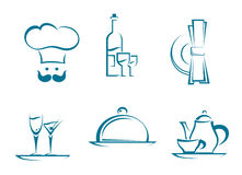 Restaurant icons and symbols Royalty Free Stock Photography