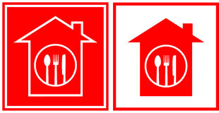 Restaurant icons with utensil Stock Image
