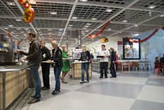 Restaurant IKEA. Saint-Petersburg Royalty Free Stock Photos