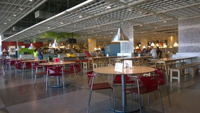 Restaurant in IKEA. Royalty Free Stock Images