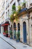 Restaurant on the Ile Saint Louis, Paris, France Royalty Free Stock Photo