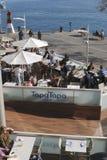 Restaurant im Einkaufszentrum. Barcelona. Spanien Stockfotos