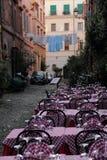 Restaurant im Freienin Rom Stockfotos