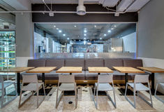 Restaurant In Modern Style Stock Images