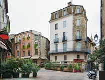 Restaurant In The Historic Center Of Aubenas In France Royalty Free Stock Photo
