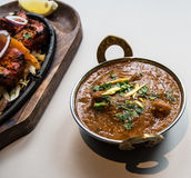Restaurant indien et nourriture spécifique indienne Image stock